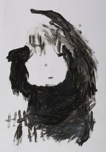 oT Acryl, Bleistift auf Papier 43 x 62 cm