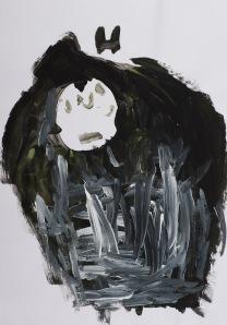 WOLF IM SCHAFSPELZ Acryl auf Papier 43 x 62 cm