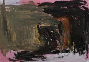 SCHWARZES LOCH Acryl auf Papier 43 x 62 cm