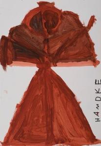 FRAU Acryl auf Papier 65 x 75