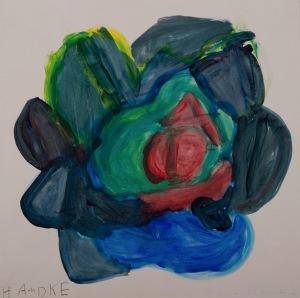 IRGENDEIN TIER Acryl auf Papier 50 x 55 cm
