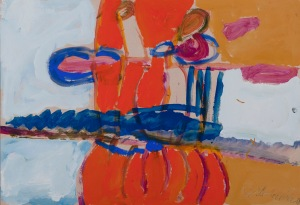 GROßER SOMMER Acrylfarbe auf Karton 62 x 85 cm
