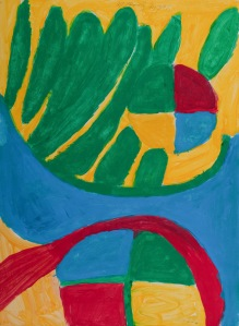GEWÄCHSE Acrylfarbe auf Karton 49 x 60 cm