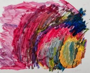 WILDES GEBLÜHE Acryl auf Papier 50 x 62 cm