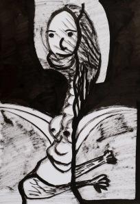 NACHT / IM TRAUM Tusche auf Papier 44 x 64 cm