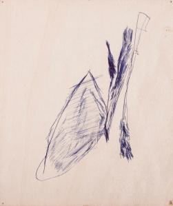 oT (WALD) Kugelschreiber auf Sperrholz 27 x 23 cm