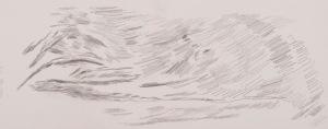 oT Bleistift auf Papier 30 x 70 cm