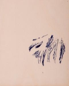 oT Kugelschreiber auf Sperrholz 23 x 27 cm