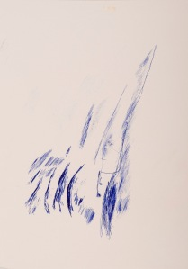 oT (WALD) Kugelschreiber auf Sperrholz 44 x 32 cm